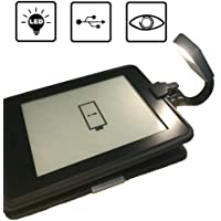 Lámpara de lectura LED de luz de libro 4 Brillo ajustable, lámpara de lectura recargable USB para libro