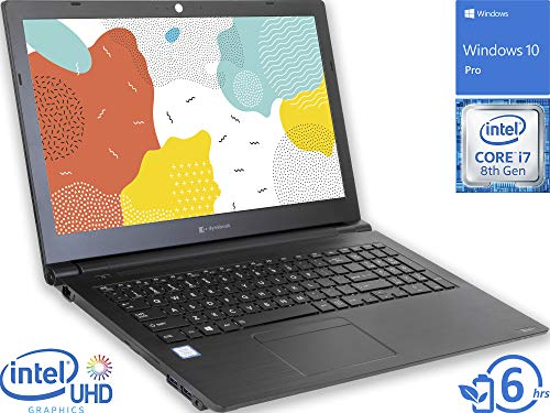 "Toshiba Dynabook Tecra A50 Laptop, 15.6"" FHD Display, Intel Core i7-8565U Upto 4.6GHz, 16GB RAM, 512GB NVMe SSD, DVDRW, HDMI, VGA, Card Reader, Wi-Fi, Bluetooth, Windows 10 Pro"