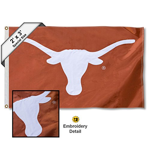 College Flags and Banners Co. Texas Longhorns 2x3 Foot Embroidered Flag