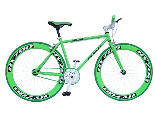 Helliot Bikes Erwachsene Fahrrad Single Speed Fixie Brooklyn H38, Grün, M, 889957338592