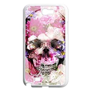 Custom For Case Samsung Note 3 Cover with Personalized Design Beautiful flower skulls