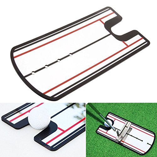 Golf Swing Straight Practice Golf Putting Mirror Alignment Training Aid Swing by MUXSAM