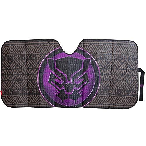 Plasticolor Marvel Black Panther Accordion Bubble Sunshade (003829R01) (Plasticolor Accordion Sunshade)