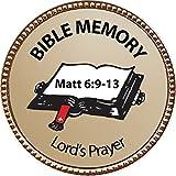 Lord's Prayer (Matt 6:9-13) Bible Memory Award, 1 inch dia Gold Pin ''Bible Memory Achievements Collection'' by Keepsake Awards