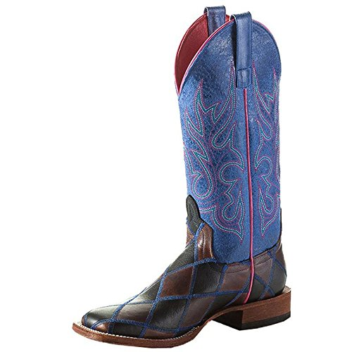 NRS Anderson Bean Womens Macie Bean Panthers DEN Patchwork Cowgirl Boots 7 B(M) US Brown/Black (Boots Anderson Women Bean)