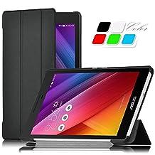 """ASUS Zenpad 8 Z380M Case, IVSO ASUS Zenpad 8.0 Z380M Case - Ultra Lightweight Slim Smart Cover Case-for ASUS Zenpad Z380M-A2-GR 8"""" Tablet (Black)"""