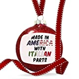 Christmas Decoration Made in America with Parts from Italian Ornament