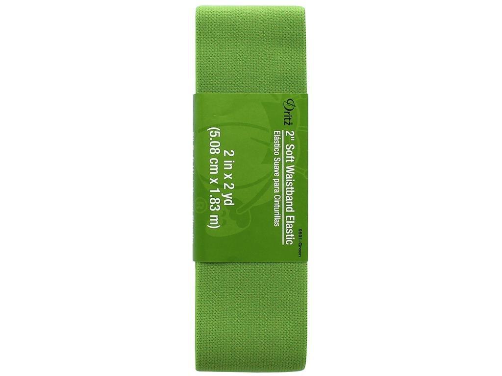 Dritz Notions Dritz Elastic Soft Waistband 2 2, 2, Green 2 Prym Consumer USA Inc DRI9591.GREEN