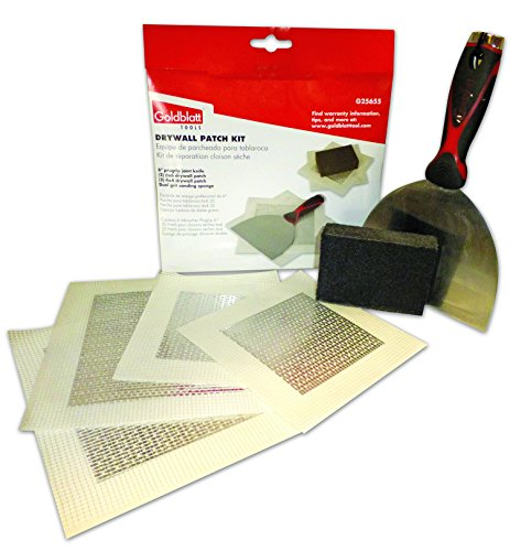 (Goldblatt Tools Drywall Patch Kit G25655, 6pc Home Repair Hole in Wall w Mesh Aluminum Patches)