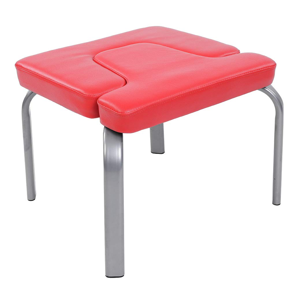 Yoga Headstand Chair, Yoga Chair Bodylift Headstand Inversion Bench Headstander Fitness Kit Red- Ideal Chair for Practice Head Stand, Shoulderstand, Handstand and Various Yoga Poses-Perfect for Both B