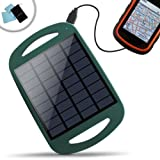 ReVIVE Solar ReStore Backyard & Outdoor Solar Panel Charger w/ Active USB 5V Charging - Works w/ Garmin, Bad Elf, PocketFinder, New Balance, Timex, Callaway & More Rechargeable Portable GPS Devices - Incl. Cleaning Cloth + Accessory Bag