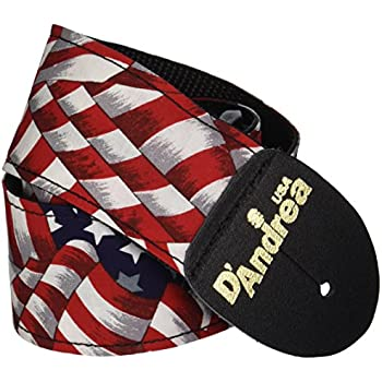 d 39 andrea apfw 6 us flag guitar strap musical instruments. Black Bedroom Furniture Sets. Home Design Ideas
