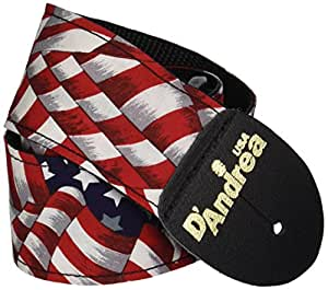D'Andrea APFW-6 US Flag Guitar Strap