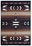 Rugs 4 Less Collection Southwest Native American Indian Area Rug Design R4L SW1 in Black(5'x7')