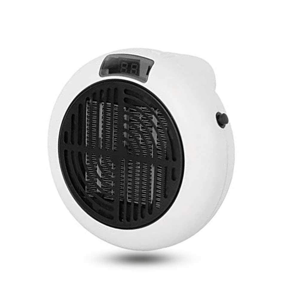 Leegoal Fan Heater, Mini Portable Plug in 900W Electric Warm Air Fan with Digital LED Screen, Adjustable Thermostat and Timer Functions for Household Wall Office Desktop Table Home Dorm
