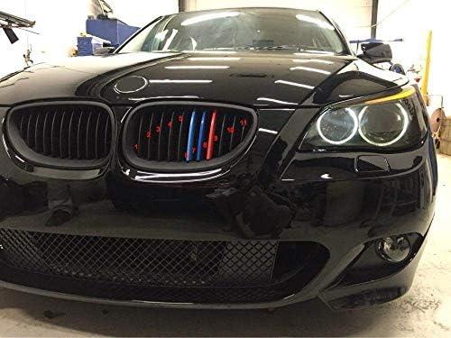 BizTech /® Insertos de rejilla compatibles con BMW Serie X3 E83 07-10 7 barras M Power M Sport Tech cap/ó ri/ñ/ón cubierta de rayas