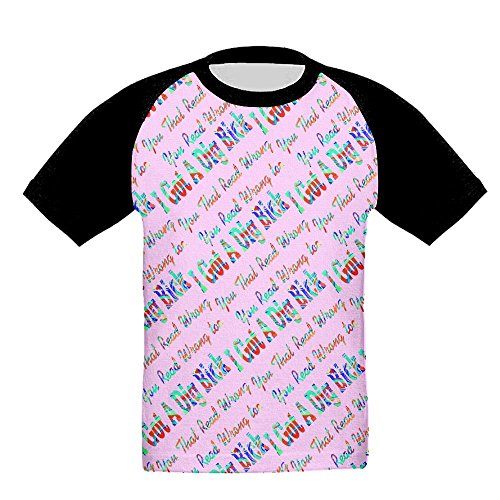 NVJ I Got A Dig Bick You That Read Wrong 3D Print Boys Neck Baseball T-Shirts