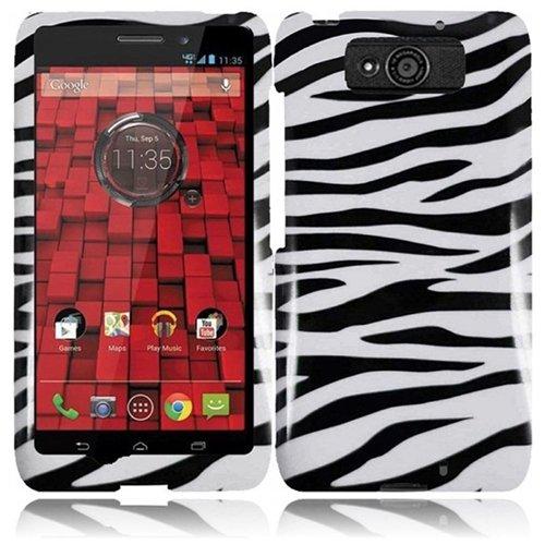 HR Wireless Motorola Droid Maxx/XT-1080M/Droid Ultra XT-1080 Design Cover - Retail Packaging - Zebra