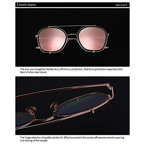 Cadre Peggy Forme extérieur pour Lunettes de UV Protection pour Ronde exquise de la d'hommes Gu C7 de Métal en Couleur C2 Soleil Femmes de zwRzq7xXr