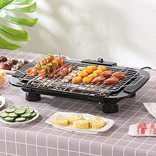 Kyman Table-Top électrique Barbecue Grill Smokeless Barbecue Grill antiadhésives Porte-Grill avec 5 Niveaux de température Réglage Easy Clean Convient Accueil Dîner