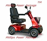 Afikim - Afiscooter C4 Breeze - Mid Size Mobility Scooter - 4-Wheel - Cherry Red - PHILLIPS POWER PACKAGE TM - TO $500 VALUE