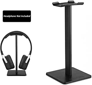 LANIAKEA Headphone Stand Portable Headset Holder Universal Aluminum Earphone Stand Gaming Headset Stand for All Size Wired Wireless Headphone – Black