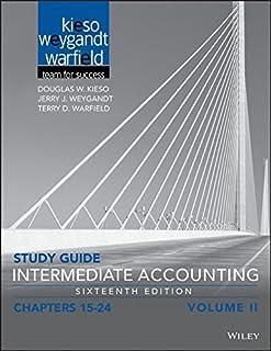 amazon com study guide to accompany intermediate accounting volume rh amazon com Wiley Intermediate Accounting 15th Edition Accounting Study Books