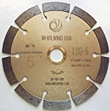 5 wet saw - Whirlwind USA LSS 5-Inch Dry or Wet Cutting General Purpose Power Saw Segmented Diamond Blades for Concrete Stone Brick Masonry (Factory Direct Sale) (5