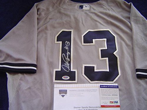 New York Yankees Alex Rodriguez Game Used Signed 660 Home Run Jersey Steiner - PSA/DNA Certified - MLB Game Used Jerseys