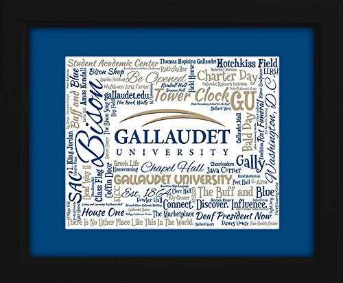 gallaudet-university-gu-16x20-art-piece-beautifully-matted-and-framed-behind-glass