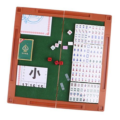 Baosity 2色選ぶ ポータブル クリスタル 麻雀ゲームセット 麻雀テーブル 麻雀ポーカー 麻雀ダイス - 紫