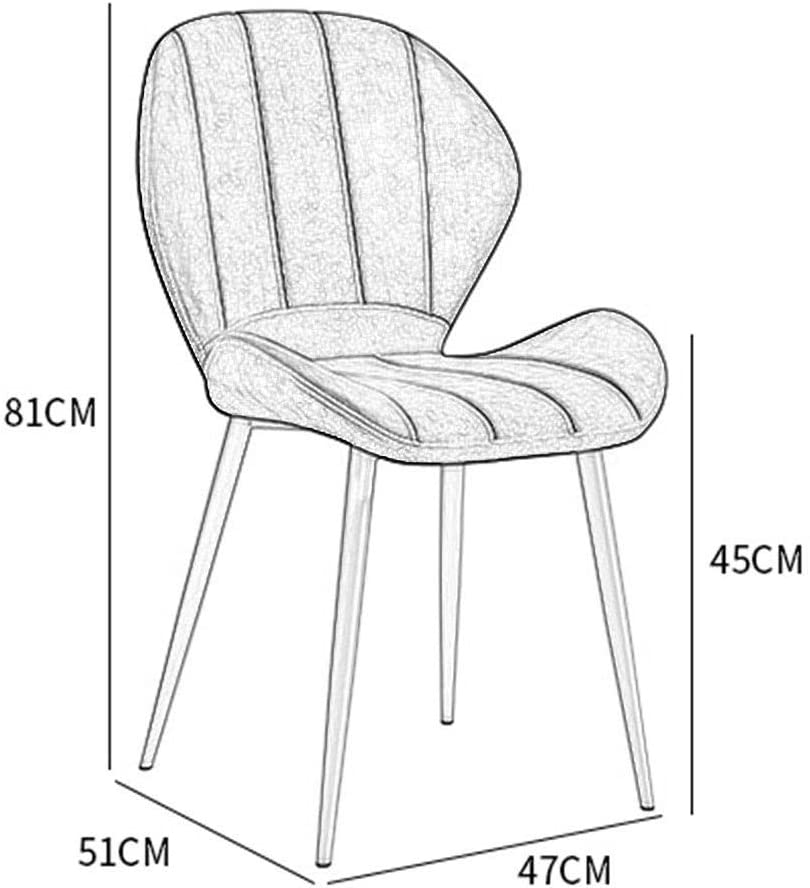 Chaise à dîner Vintage de cuisine Canapé avec chaises capitonnées de velours Pieds en métal Salon Loisirs Salon moderne chaises à un ensemble de 4 (Color : D) F