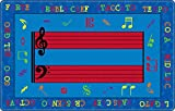 Flagship Carpets FE121-32A Fun with Music Rug, Creatively Reinforce Music Vocabulary and Symbols, Children's Classroom Educational Carpet, 5'10'' x 8'4'', 70'' Length, 100'' Width, Blue/Multi-Color