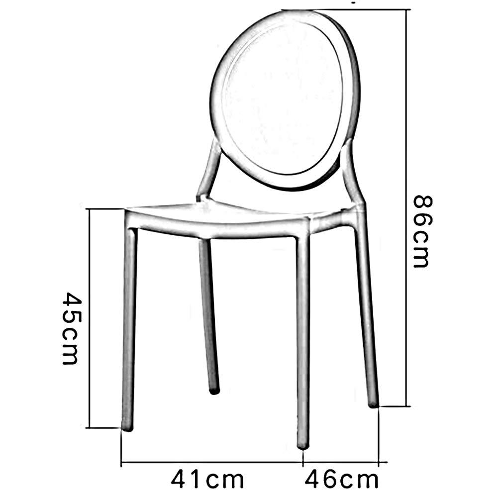 WYYY kontorsstol matsal stapelstol minimalistisk plast baksida makeupstol flerfärgade 2 uppsättningar hållbar stark (färg: svart) Grått