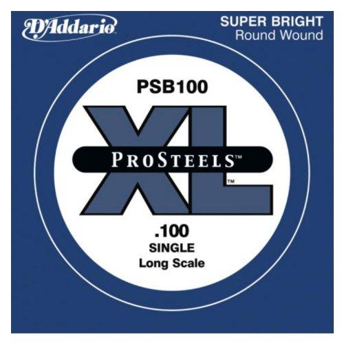 escala extra larga.100 DAddario PSB100SL ProSteels cuerda individual para bajo