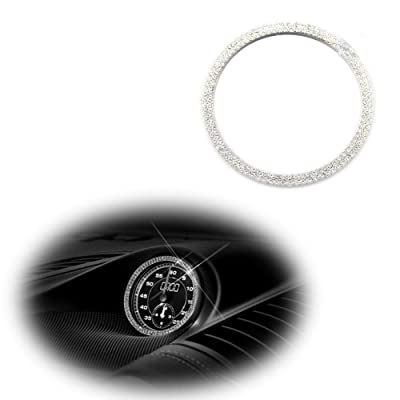 Luxury Dashboard Center Clock Compass Cover Diamond Ring Emblem Sticker for Porsche 911 Cayenee Boxster Macan Panamera, etc: Automotive