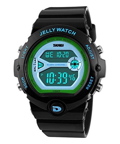 SKMEI Children's SK1153A Outdoor Sports Multifunction Waterproof Jelly Digital Electronic Watch Black