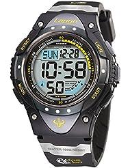 Pasnew outdoor multi-functional waterproof 100 meters luminous military sports watch 1018D (6 styles) (black)