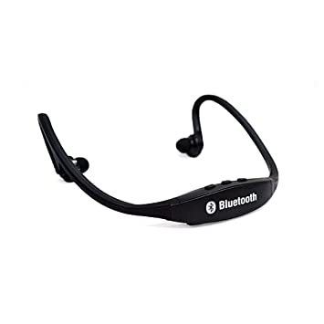 fenguh Negro Universal Inalambrico Bluetooth Auriculares Estéreo Deportes Bluetooth Wireless Headset Sport Stereo Auriculares Manos Libres para Correr ...