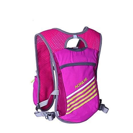 Lingstar Outdoors hidratación Vest Hydration Pack - Mochila para mochilas Trail Marathoner corriendo Race negra: Amazon.es: Hogar