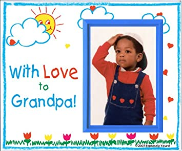 Amazoncom With Love To Grandpa Picture Frame Gift Baby