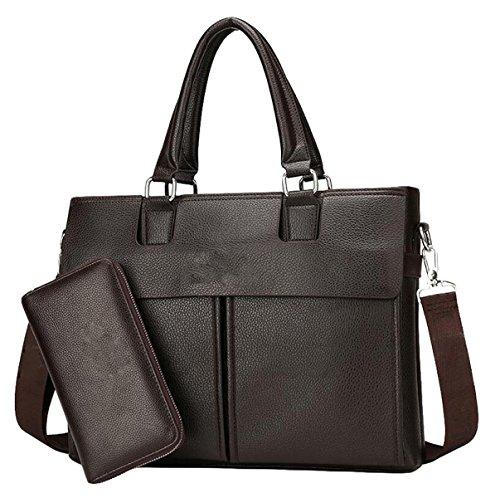 Brown2 Bag Leisure Handbag Shoulder Casual Men Horizontal Fashion Package Business Messenger 1RpnqA