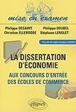 Dissertations d'économie aux concours d'entrée des ecoles de commerce(ece)