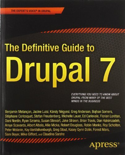 Book cover from The Definitive Guide to Drupal 7 by Benjamin Melancon (July 18,2011) by Benjamin Melancon;Jacine Luisi;Karoly Negyesi;Bojhan Somers;Step