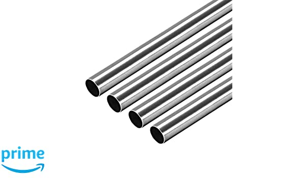 uxcell 304 Stainless Steel Round Tubing 9mm OD 0.4mm Wall Thickness 250mm Length Seamless Straight Pipe Tube 4 Pcs