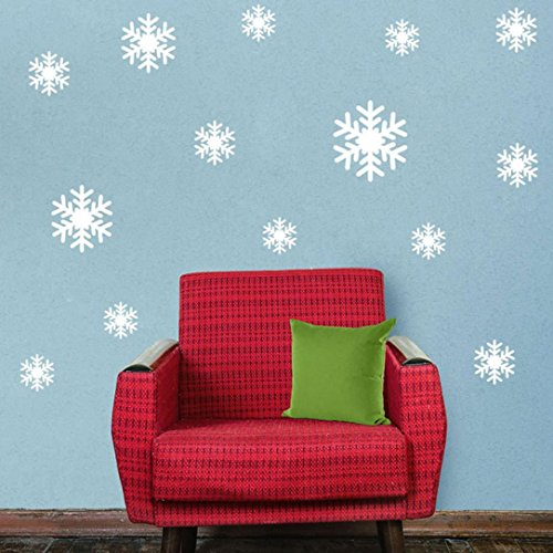 (Ussore Wall Sticker Frozen Snow Flakes Vinyl Art Wall Quote Decal Sticker Removable For Kids Home Living Room House Bedroom Bathroom Kitchen Office Home)