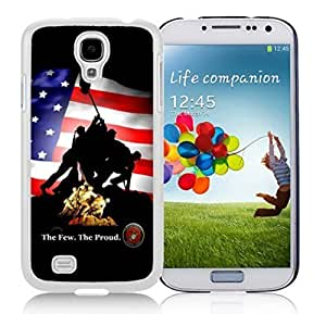 Kingsface New Unique DIY Antiskid Skin case cover For Samsung S4 The Few The VGMXQwv2udB Proud The Marines Samsung Galaxy S4 White cell phone case cover 413