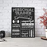 Personalized Personal Trainer Wall Art Canvas Gallery Wrap - Graduation Gift