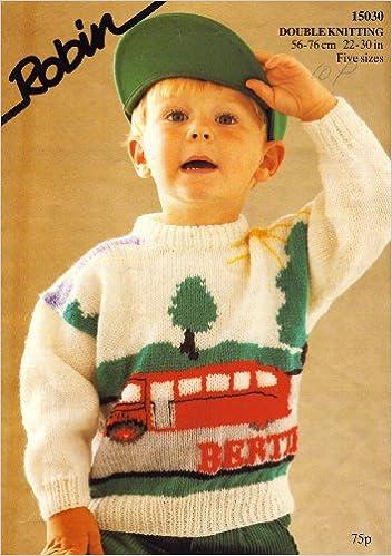 Robin Thomas The Tank Engine Bertie The Bus Childrens Motif Knitting