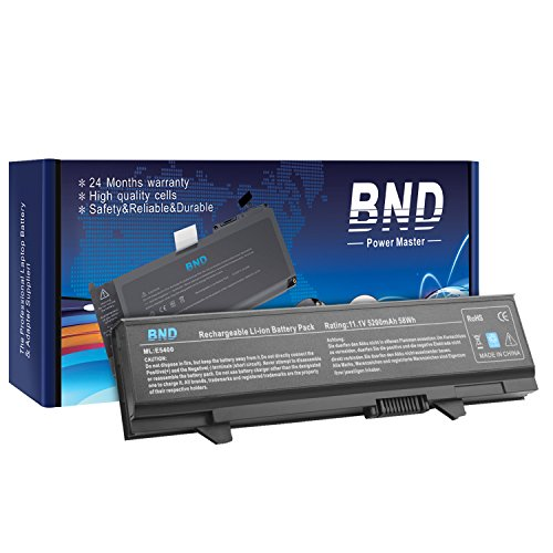 Bnd Laptop Battery  Samsung Cells  For Dell Latitude E5500 E5510 E5400 E5410 Series  Fits P N Km742 Wu841 T749d  6 Cell Li Ion 5200Mah 58Wh
